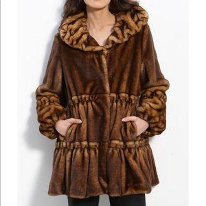 Jones New York faux fur coat